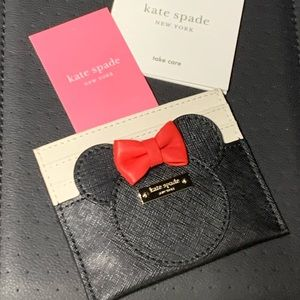 Kate spade Minnie Mouse card holder